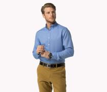 Regular Fit Baumwollhemd Mit Mikro-dobby-webmuster