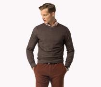 Sweater Aus Wolle Mit Wabenmuster