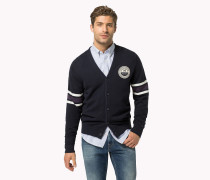 Regular Fit Cardigan Aus Baumwolle-woll-mix
