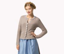 Dirndl-cardigan Aus Wolle-kaschmir-mix