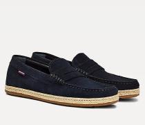 Wildleder-Loafer im Espadrille-Design