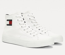 High-Top Sneaker aus Baumwolle