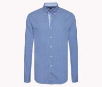 Tailliertes Hemd Aus Baumwoll-popeline
