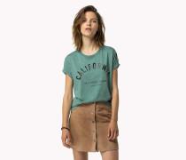 Bedrucktes T-shirt Aus Baumwoll-modal
