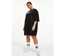 Curve Logo-T-Shirt-Kleid aus Bio-Baumwolle