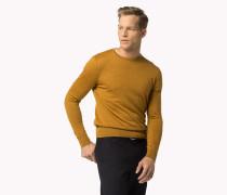 Rundhals-sweater Aus Reiner Wolle
