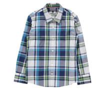 Jungen Hemd Regular Fit Langarm, Karo 1