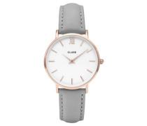 Damen Armbanduhr Minuit Rose Gold White/ Grey, Rosa