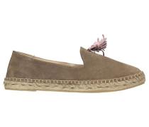 Damen Slipper/Loafer Pom Pom Gr. 37