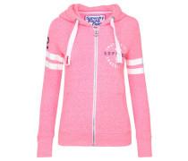 Damen Sweatshirtjacke Track & Field Ziphood, pink