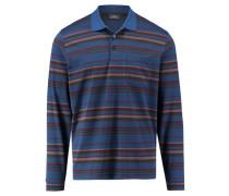 Herren Poloshirt Langarm, blau