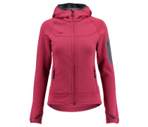 Damen Powerstretchjacke / Fleecejacke mit Kapuze Mikaela Ladies Stretchjacket Hoody