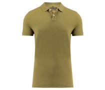 Herren Poloshirt Shaped Fit Kurzarm, Grün