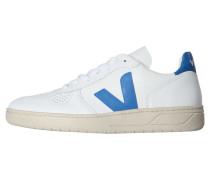 "Herren Sneakers ""V-10"", weiss / blau"