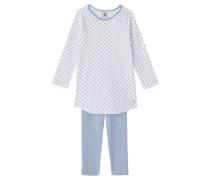 Mädchen Schlafanzug, Weiß
