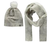 Damen Mütze und Schal, Weiß