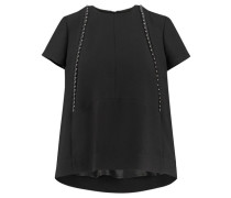 Damen Blusenshirt Kurzarm, schwarz