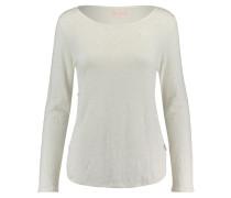 Damen Leinen-Shirt Pearl Langarm, Weiß