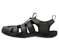 Herren Outdoor Sandale Clearwater Leather, Schwarz