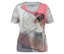 Damen Shirt Kurzarm - Plus Size, druck 1