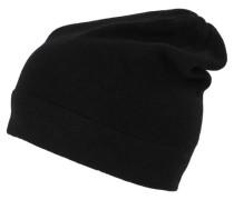 Damen Beanie-Mütze, schwarz