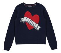 Mädchen Pullover Ame Intarsia Sweater, Blau