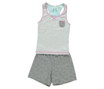 Mädchen Pyjama / Schlafanzug ärmellos verfügbar in Größe 128