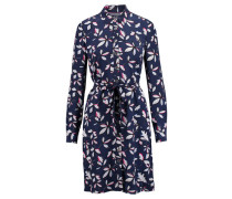 Damen Blusenkleid Nea Shirt Dress Ls, Blau