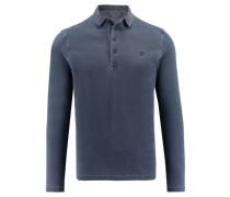Herren Poloshirt Regular Fit Langarm, royal