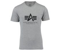 Herren T-Shirt, silber
