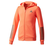 Girls Sweatjacke / Trainingsjacke Training Full Zip Hoodie, Orange