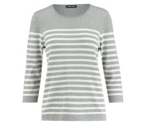 Damen Pullover Dreiviertelarm, grau