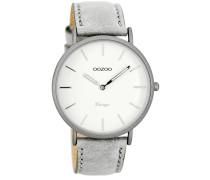 OOZOO: Damen Uhr Ultra Slim Vintage C7736, grau