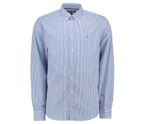 Herren Hemd Ivy Stripe New York Fit Langarm, Blau