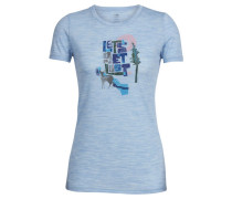 Damen Funktionsshirt Women's Tech Lite Short Sleeve Crewe Let's Get Lost, Blau