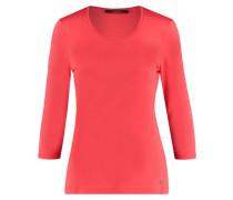 Damen Shirt Dreiviertelarm, koralle