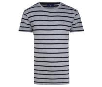 Herren T-Shirt Breton Stripe, Grau