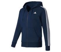Herren Sweatjacke mit Kapuze Essentials 3S FZ Hood Fleece, Blau