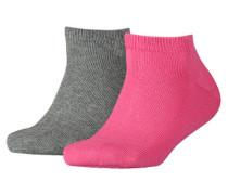Mädchen und Jungen Sneakersocken Doppelpack, pink