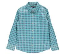 Jungen Hemd Regular Fit Langarm, Grün
