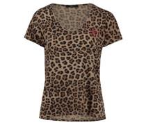 Damen T-Shirt, camel