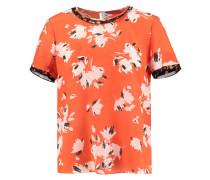 "Damen Seiden-Bluse ""Cedine"" Kurzarm, orange"