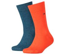 Jungen und Mädchen Socken TH Basic Doppelpack, Orange