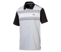 Herren Golf Poloshirt Highlight Stripe Kurzarm, Schwarz