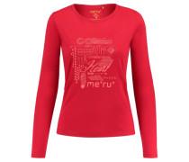 Damen Shirt Glomma Langarm, Rot