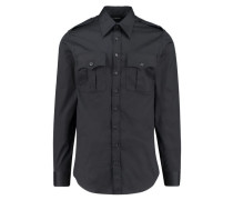 Herren Hemd Langarm, schwarz