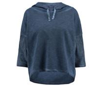 Damen Sweatshirt mit Kapuze, Blau
