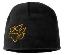 Kinder Fleece-Mütze, Schwarz