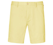 Herren Shorts Straight Fit, Gelb