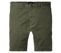 Herren Chino-Shorts Slim Fit, oliv